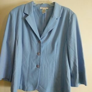 Sag Harbor Strech Blue Women Blazer Size 16